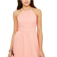 Halter Top Terry Skater Dress - Charcoal