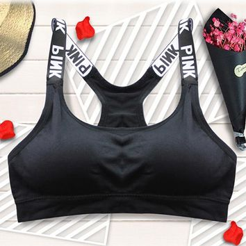 Women Fitness Yoga Sport Bra Tank Tops Sleeveless Quick Dry Camis Slimming Backless Lady Gym Workout Seamless Bra Tops Vest 65
