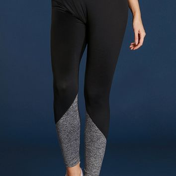 Gray Black Essential Active Capri Leggings
