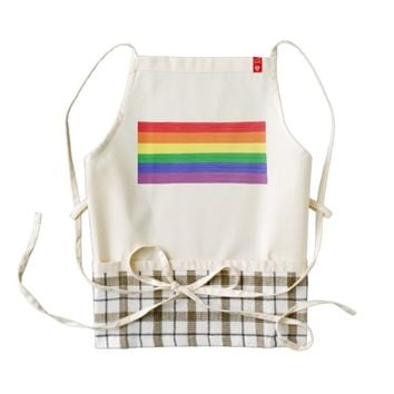 Painted Rainbow Flag Zazzle HEART Apron
