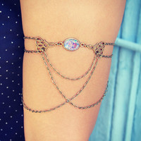 pink fire opal and armlet/upper arm bracelet