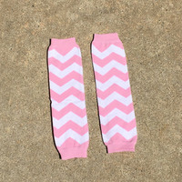 Baby girl leg warmers, pink chevron, pink leg warmers, chevron, toddler girl, leggings, leg warmers, knit, photo prop, ready to ship, pink