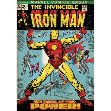 Invincible Iron Man Comic Book Cover Large Wall Accent