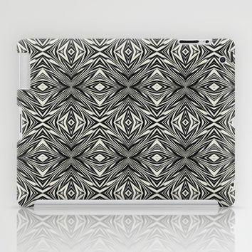 Black And White Abstract iPad Case by KCavender Designs