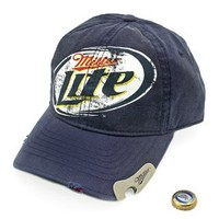 Miller Lite Bottle Opener Baseball Cap