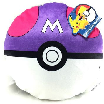 Pokemon Poke Ball Plush Stuffed Toy Soft Pillow- Purple