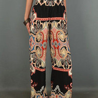 Pixie Dust-Paisley Classic Wider Soft Pants - Multi Color