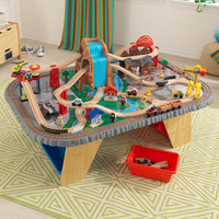 KidKraft Waterfall Junction Train Table & Set - 17498