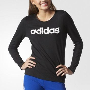 ONETOW ADIDAS Women Sport Casual Print Long Sleeve Shirt Top Tee