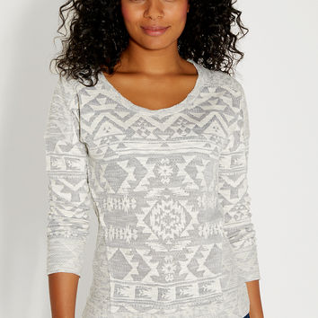 ethnic patterned pullover