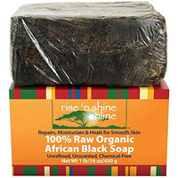 Rise 'N Shine Raw Organic African Black Soap, 16 oz.