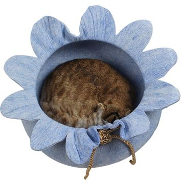 Gomaomi Handcrafted Cat Bed Cave Felted House for Cats