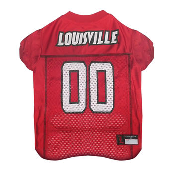 Mirage Pet Sports Fan Team Logo Design Louisville Cardinals Pet Dog Cat Comfortable Jersey Extra Small
