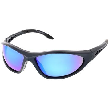 Sports TR-90 Wrap Sunglasses Ventilated Slim Arms Colored Mirror Lens 68mm