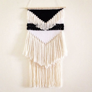 Woven Wall Hangings woven wall hanging / lunar weaving / from hazelandhunter on etsy
