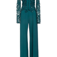 Embroidered Long Sleeve Jumpsuit | Moda Operandi