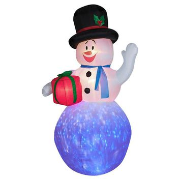 Gemmy Airblown Inflatables Christmas Gemmy Inflateables Holiday Projection Air Blown Kaleidoscope Snowman Decor