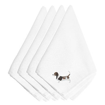 Basset Hound Embroidered Napkins Set of 4 BB3402NPKE