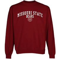 Missouri State University Bears Team Arch Sweatshirt - Maroon