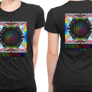 Coldplay A Head Full Of Dreams Cover Album Colorize 2 Sided Womens T Shirt