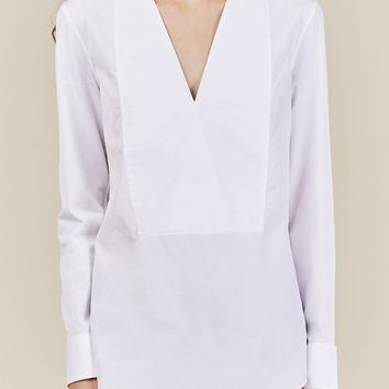 Donatella V-Neck Top, White