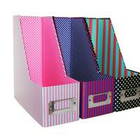 File Boxes, Desk Organizers, Magazine Holders, Multi Functional Containers - Set of 3