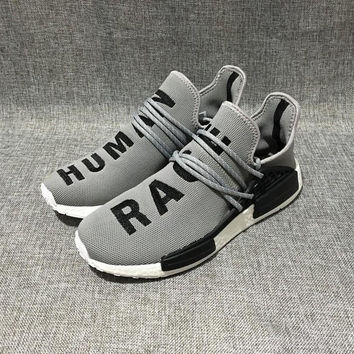 """Adidas"" NMD Human Race Grey Leisure Running Sports Shoes"