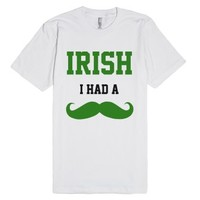 Irish I Had A Mustache Funny St Patricks Day Shirt-White T-Shirt