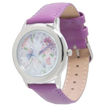 romantic flowers wrist watch