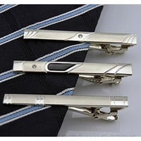 Men's Modern Silver Collection Tie Bars/Clips