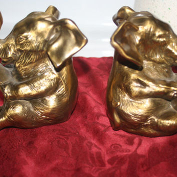 Brass Elephant Bookends,Heavy Brass Home decor