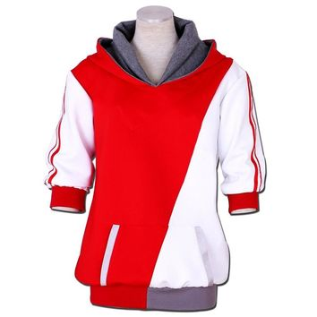 Pocket Monster Trainer Red White Cross Hoodie Hooded Jacket Sweater Suit  Go logo Team Cosplay Costume Male Female S-XXLKawaii Pokemon go  AT_89_9