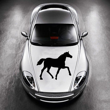 BEAUTIFUL HORSE ANIMAL ART MURALS DESIGN  HOOD CAR VINYL STICKER DECALS SV1219