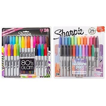 Sharpie Color Burst Permanent Markers, Fine Point, Assorted, 24-Pack (1949557)