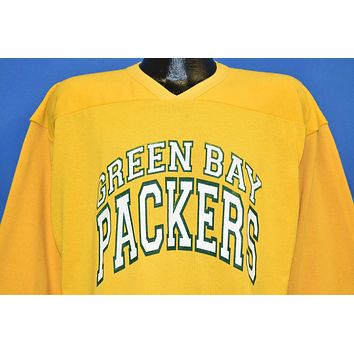 80s Green Bay Packers Yellow Jersey LS t-shirt Large
