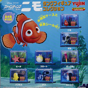 Yujin Disney Pixar Finding Nemo Gashapon Capsule 8 Mini Aquarium Figure Set