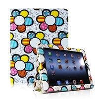 Fintie (Checkerboard) Folio Case Cover for iPad 4th Generation With Retina Display, the New iPad 3 & iPad 2 (Built-in magnet for sleep / wake feature)