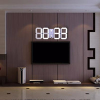2016 Remote Control Large Modern Design Digital Led Wall Clock Big Creative Vintage Watch Home Decoration Decor 3d White Clock