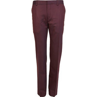 River Island MensPurple slim fit suit pants