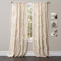 Lush Decor C18095P14-000 Avon Ivory x 54-Inch Window Curtain Single Panel