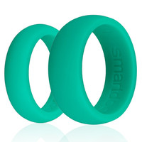 Mens Silicone Wedding Ring Set Green silicone wedding bands