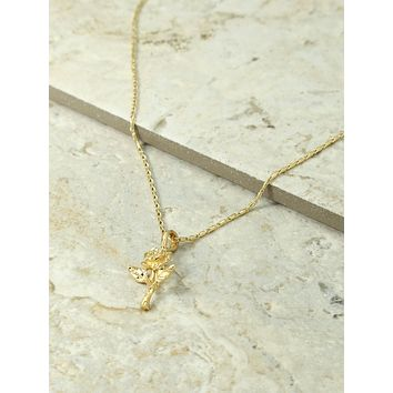 Vanessa Mooney x The Gold Little Rosa Charm Necklace