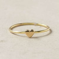 Anthropologie - Wee Heart Ring, Brass