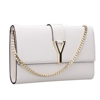 Bagroo 100% Genuine Leather Mini Evening Handbags with Chain Mini Summer Purse (White):Amazon:Shoes