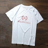 Balenciaga Woman Men Fashion Casual Sports Shirt Top Tee