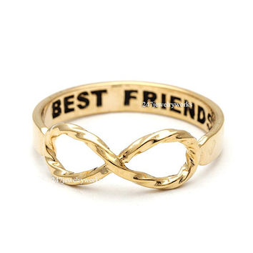 bestfriend ring, infinity ring, best friends ring, friendship ring, girls ring, infinity best friends ring, twisted infinity ring, for woman