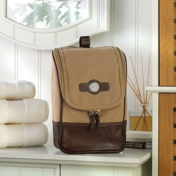 Personalized Canvas and Leather Travel Dobb Kit