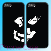 Never Let You Go design Couple love case for iPhone 4 case and iPhone 5 case.