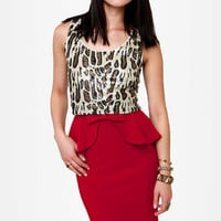 Make Your Presents Known Red Pencil Skirt