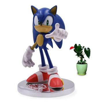 Anime Game Sonic the Hedgehog 20th Anniversary PVC Action Figure Collection Model Doll Toy Christmas Gift For Children 18 cm